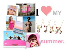 """""""I love my pink summer"""" by cristinaconst ❤ liked on Polyvore featuring Les Néréides and Venus"""