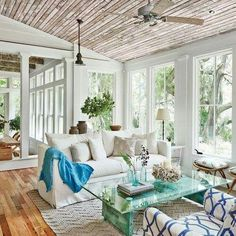 Sun room off of the dinning room More Image source Aqua, Grey and coral Montana home Mason jar set | rustic home decor Image source Summer colors and decor inspired by coastal living. Create a beachy yet sophisticated living space… Continue Reading → #coastallivingroomscolors #rustichomedecorcolors