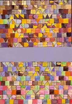 Discover Once Emerged from the Gray of Night by abstract artist, Paul Klee. Framed and unframed Paul Klee prints, posters and stretched canvases. Wassily Kandinsky, Paul Klee Art, Creation Art, Painted Letters, Middle School Art, Art Moderne, Letter Art, Art Lesson Plans, Art Classroom