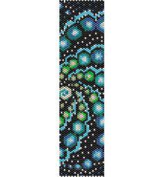 Mandala sky blu bead Peyote Pattern beading pattern stitch