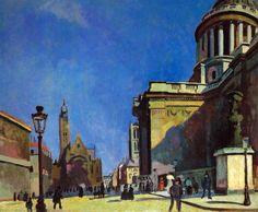 Raoul Dufy - Le Pantheon et Saint-Etienne-du-Mont, 1906 at Albright-Knox Art Gallery Buffalo New York