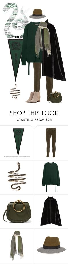 """""""Slytherin."""" by petitemia ❤ liked on Polyvore featuring PBteen, rag & bone, Ileana Makri, Proenza Schouler, Chloé, Anna Sui, donni charm, Lanvin and Golden Goose"""