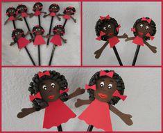 LU DECORAÇÕES: Ponteira de lápis personagem do livro MENINA BONIT... African Crafts, Workout Guide, Kwanzaa, Black History Month, Puppets, Teacher Gifts, Snoopy, Dolls, Professor