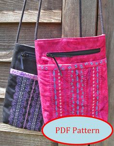 Mini Shoulder Bag PDF Sewing Pattern Fat by KindredQuilters, $10.00