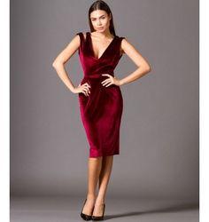 23b0c7b83cbb Βελούδινο Φόρεμα με βε και Ανοιχτή Πλάτη - Βουργουνδί Φωτογραφία Μόδας