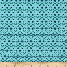 Riley Blake Designer Novelty Glasses Blue from @fabricdotcom  Designed by the Riley Blake Designers for Riley Blake, this cotton print is perfect for Quilting, Apparel, and Home Decor accents. Colors include dark and light blue.