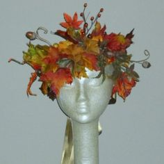 0Autumn Woodland Faerie Crown - Adult Fairy Crown - headpiece for Fall Bride - Photo Prop - Halloween