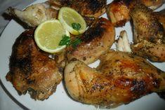Pollo al horno con zumo de limón y páprika. Ver receta: http://www.mis-recetas.org/recetas/show/42899-pollo-al-horno-con-zumo-de-limon-y-paprika