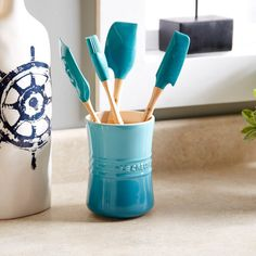 Le Creuset 6-Piece Utensil Set in Caribbean