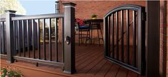 From a welcoming statement to a safety implement, discover the top 50 best deck gate ideas. Explore backyard gate designs from wood to metal and beyond. Deck Gate, Porch Gate, Deck Railings, Deck Design, House Design, Backyard Gates, Outdoor Living, Outdoor Decor, Outdoor Spaces