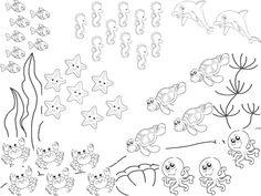 Νηπιαγωγός για πάντα....: Ζώα της Θάλασσας & Μαθηματικά Habitats, Preschool, Summer, Blog, Pisces, Boats, Summer Time, Beach, Sailor