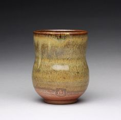 handmade pottery cup yunomi teacup tumbler with by rmoralespottery