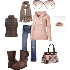 Pink & Brown, winter