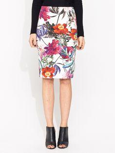 Flower Bomb Zip Back Skirt   Portmans - $80