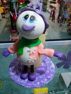 Vela con muñeco nieve