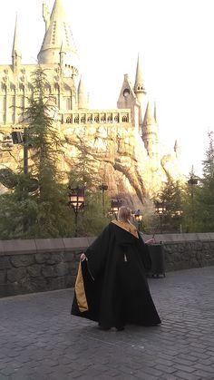 Harry Potter Hogwarts Robe Tutorial – the half blood sisters Harry Potter Cloak, Harry Potter Canvas, Harry Potter Cosplay, Harry Potter Halloween, Harry Potter Diy, Harry Potter Hogwarts, Hogwarts Costume, Hogwarts Robes, Hogwarts Uniform