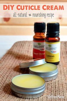 Natural Cuticle Cream (DIY Recipe)   Wellness Mama Cuticle Oil Diy, Cuticle Care, Nail Care, Creme Anti Age, Diy Lotion, Lotion Bars, Wellness Mama, Homemade Beauty Products, Natural Products