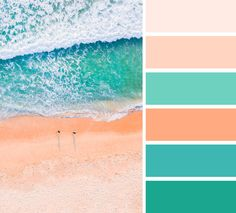 Peach and green color palette | Peach and teal color scheme #color #colorpalette