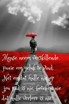 Mense neem verskillende paaie na geluk. Strong Quotes, Positive Quotes, Blessed Assurance, Afrikaans Quotes, Gods Grace, Lily Of The Valley, Beautiful Words, Qoutes, Christianity