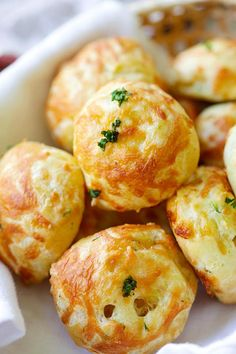 Cheese Puffs (Gougeres) - best and easiest recipe for puffy, light and airy French cheese puffs. Loaded with mozzarella and parmesan cheese, so good | rasamalaysia.com