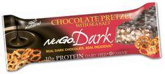 NuGo Dark Chocolate Pretzel with Sea Salt Protein Bar - The crisp combination of delicious Real Dark Chocolate and crunchy pretzels sprinkled with sea salt will please your senses. $19 for 1 box of 12 bars #GlutenFree #Vegan #Dairyfree #Kosher Parve
