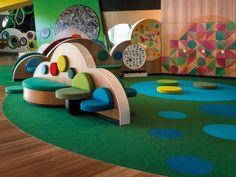 Pauline GANDEL Children's Art Museum - Gutian Road No. Kids Play Spaces, Kids Play Area, Kids Room, Kindergarten Interior, Kindergarten Design, Design D'espace Public, Kids Salon, Kids Cafe, Kids Library
