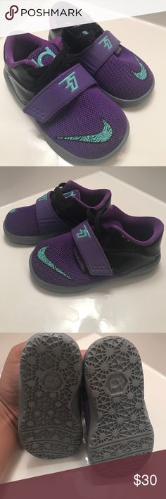 KD Purple and turquoise KD Nike sneakers. Size 6. Nike Shoes Sneakers