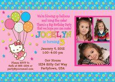Customized Hello Kitty Birthday Invitations on Etsy, $9.99