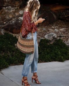 20 perfect fall bohemian street style outfits - boho fashion ideas to wear every. - 20 perfect fall bohemian street style outfits – boho fashion ideas to wear everyday autumn – Bo - Street Style Outfits, 30 Outfits, Mode Outfits, Fashion Outfits, Fashion Ideas, Fashion Clothes, Fashion Hats, Trendy Outfits, Heels Outfits