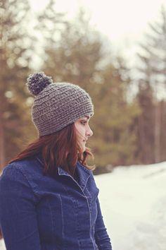 Satin Lined Pom Pom Beanie, Womens winter hat, warm winter hat, womens beanie hat, satin lined hat by TheClassyCrocheter on Etsy (null)