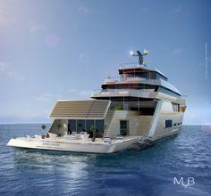 Crescendo Yacht Design - aft view