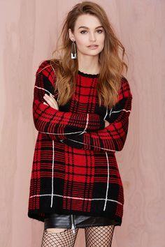 UNIF Jumbo Plaid Sweater
