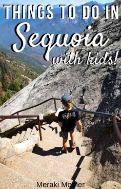All of the best things to do with kids on your next visit to Sequoia National Park! From camping to hiking to driving through trees, there's something for the whole family to enjoy. Travel Tours, Travel Usa, Travel Hacks, Travel Guides, Travel With Kids, Family Travel, Family Trips, Family Vacation Destinations, Family Vacations