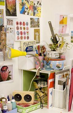 Cheerfully bright workspace