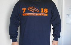 Denver Broncos Football Elway Manning 7  18 From One by nlcorder, $24.99