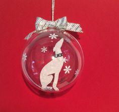 Greyhound in a bauble
