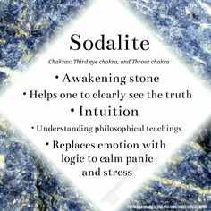 Sodalite crystal meaning                                                                                                                                                                                 More