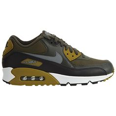 best loved 18287 2f1cc Amazon.com   NIKE Mens Air Max 90 Essential Running Shoes  Anthracite White Black 537384-089 Size 8   Running