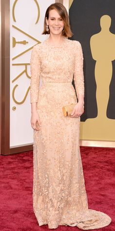 Oscars 2014 Red Carpet Arrivals - Sarah Paulson from #InStyle