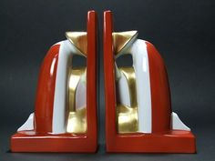 Chinaman Bookends - designed by Robj   These are a remake of the famous Robj chinaman bookends, produced by Villeroy and Boch.