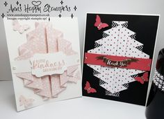 Stampin Up! UK Independent Demo, Double pleated fold card #2 Simple Sundays
