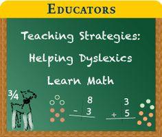 Educators - Teaching Strategies Helping Dyslexics Learn Math