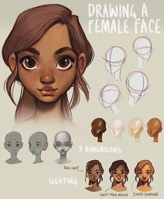 Since I posted a mini-tutorial on drawing a head yesterday, I figured I'd let you guys know about this tutorial I made last year! It's about how to draw a (female) face and is much more in-depth than yesterday's mini-tut. Link is in my bio ❤ hope you find it useful!