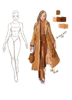 Fashion Portfolio Layout, Fashion Design Sketchbook, Fashion Design Drawings, Fashion Sketches, Fashion Drawing Tutorial, Fashion Illustration Tutorial, Fashion Illustration Dresses, Fashion Silhouette, Fashion Figures