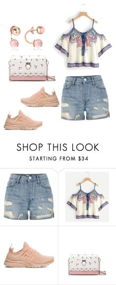 """"""""""" by francakatia ❤ liked on Polyvore featuring River Island, NIKE and Rebecca"""