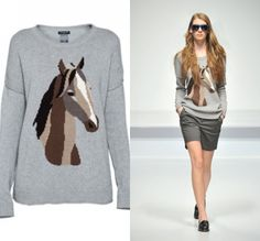 A horse sweater for L I could stomach.