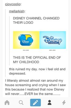 I feel really old because I have been through at least 2 logo changes now! End to my childhood and to face the fact that I'm an adult! Walt Disney, Disney Love, Disney Magic, My Tumblr, Tumblr Posts, Tumblr Funny, Childhood Ruined, Right In The Childhood, Childhood Memories
