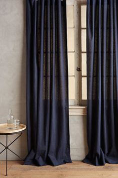 Linen Tie-Top Curtain
