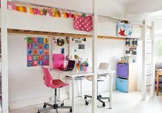 Modernes Kinderzimmer mit bunten Accessoires
