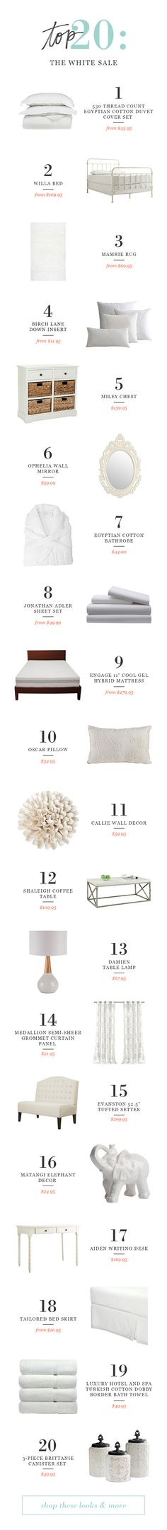 Our top 10 picks from our Winter White sale! Don't miss deals on everything you need to refresh your home for the new year.